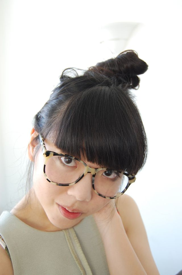 Susie Bubble in her Prism glasses. Photo: stylebubble.typepad.com