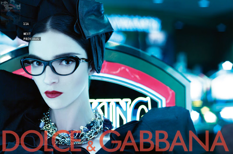 Dolce & Gabbana glasses advert 2009