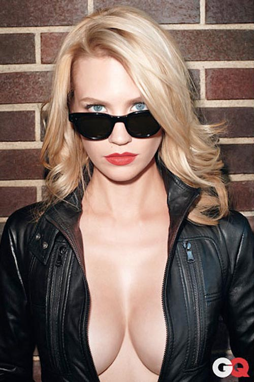 January Jones in Moscot Vilda sunglasses