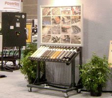 Conveyor rollers display