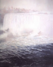 """Niagara"" Original Oil and Encaustic"