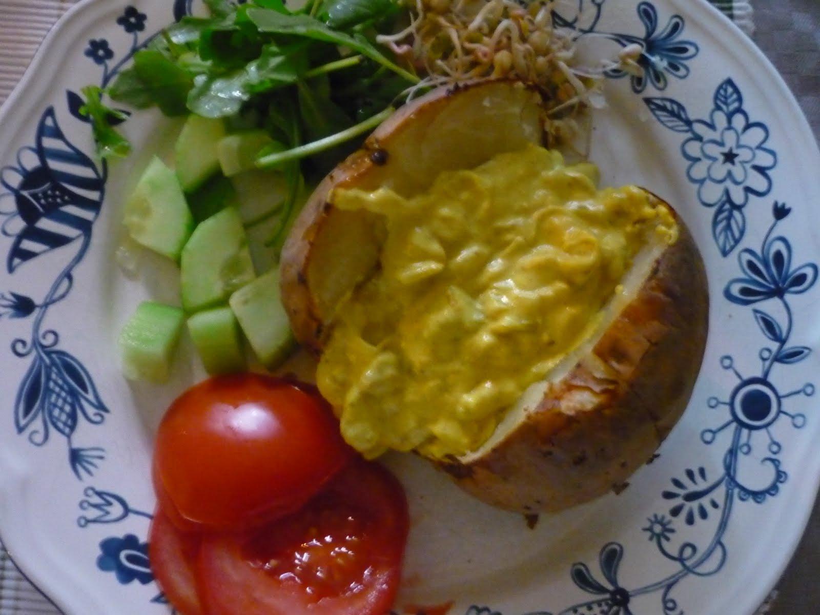 vegetarisk bakad potatis
