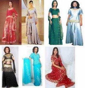 Modelos de roupas indianos