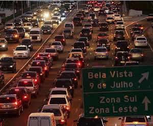 Transito na cidade de São Paulo