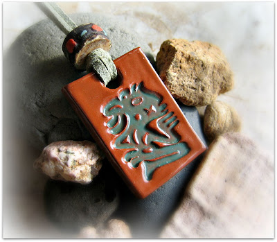 ancient one ceramic pendant