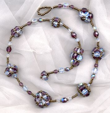 Katya Bead Netted Bracelet Pattern Using Twin Beads by VanBeads