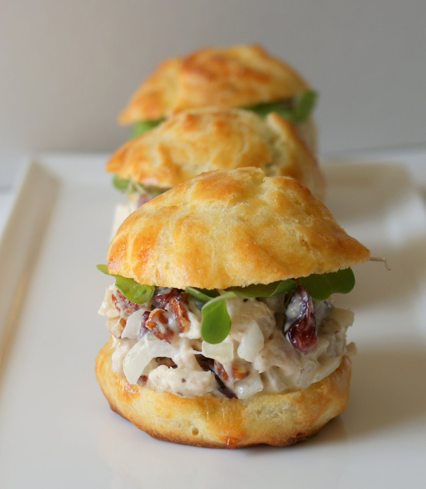 Authentic Suburban Gourmet: Gougeres with Chicken Salad + Anniversary ...