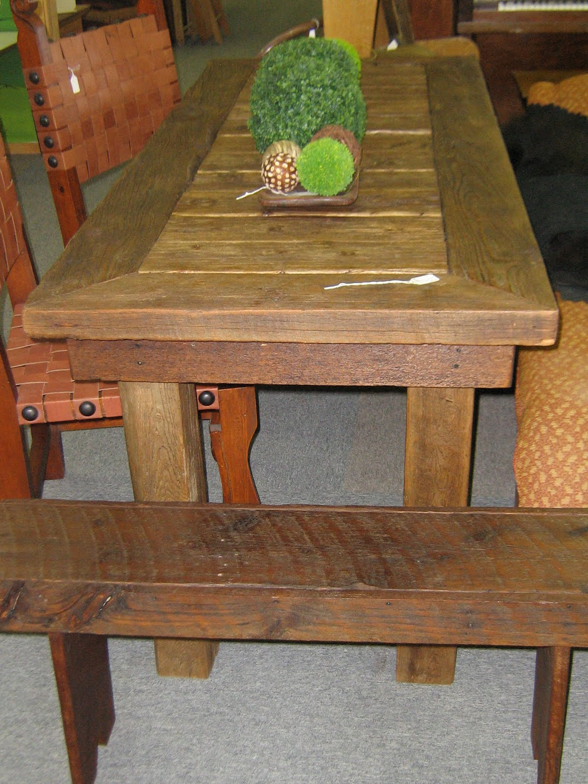MyAntiqueBarn Outhouse Door Kitchen Table