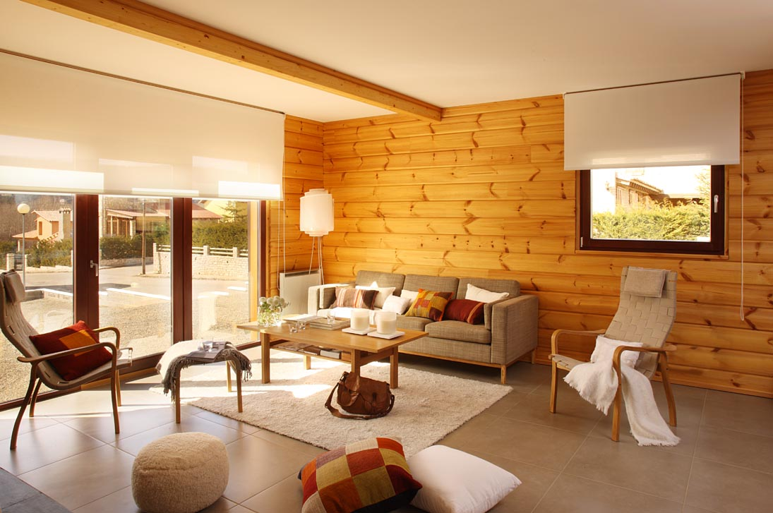 Log cabin decorating ideas dream house experience for Home interior living room