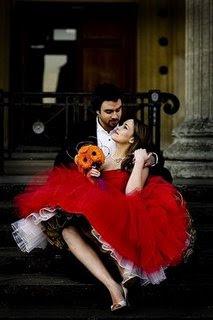 noiva vestido vermelho