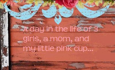 A day in the life of a mom, 3 girls...and my little pink cup.