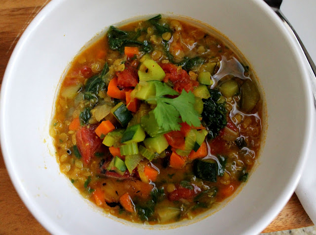 Red Lentil Vegetable Soup Recipe by Jeanette's Healthy Living
