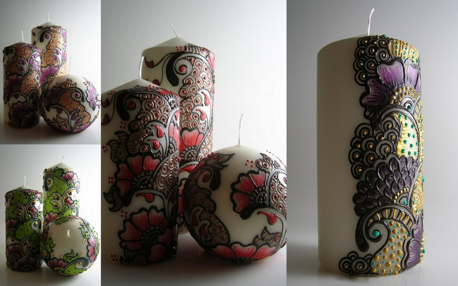 Mehndi For Candles : Sound horn please etsy find henna candles and lanterns