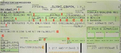 Biglietto aereo cartaceo