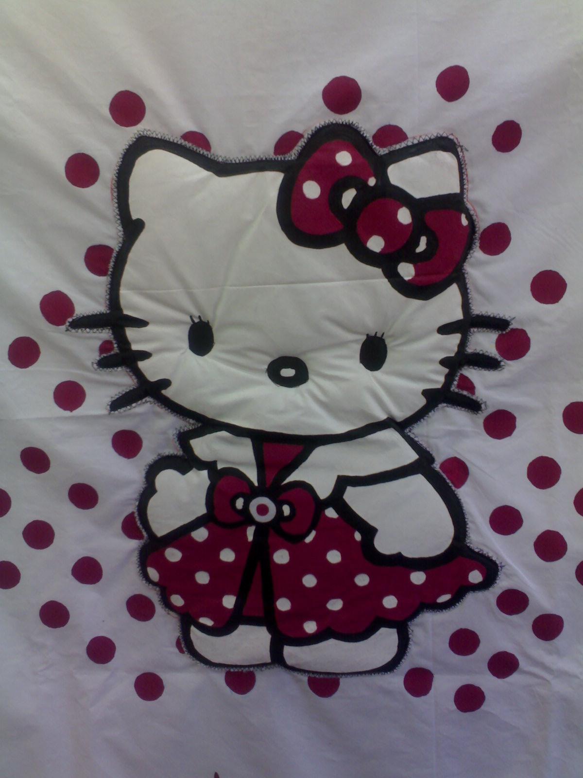 Artezubia: Hello Kitty pintada en tela