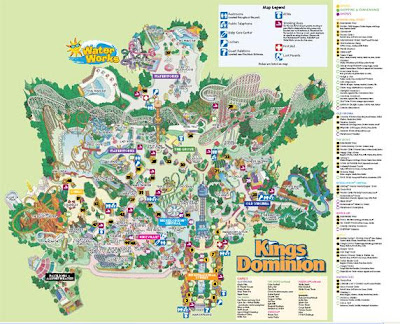 NewsPlusNotes Kings Dominion 2007 Park Map