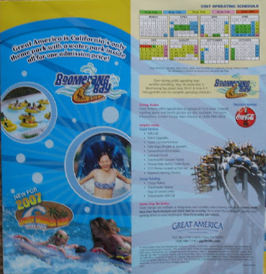 six flags great america park map. six flags great america