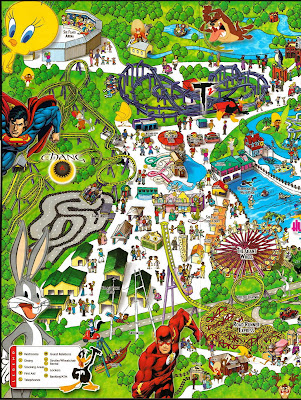 NewsPlusNotes: Six Flags Kentucky Kingdom 2006 Park Map