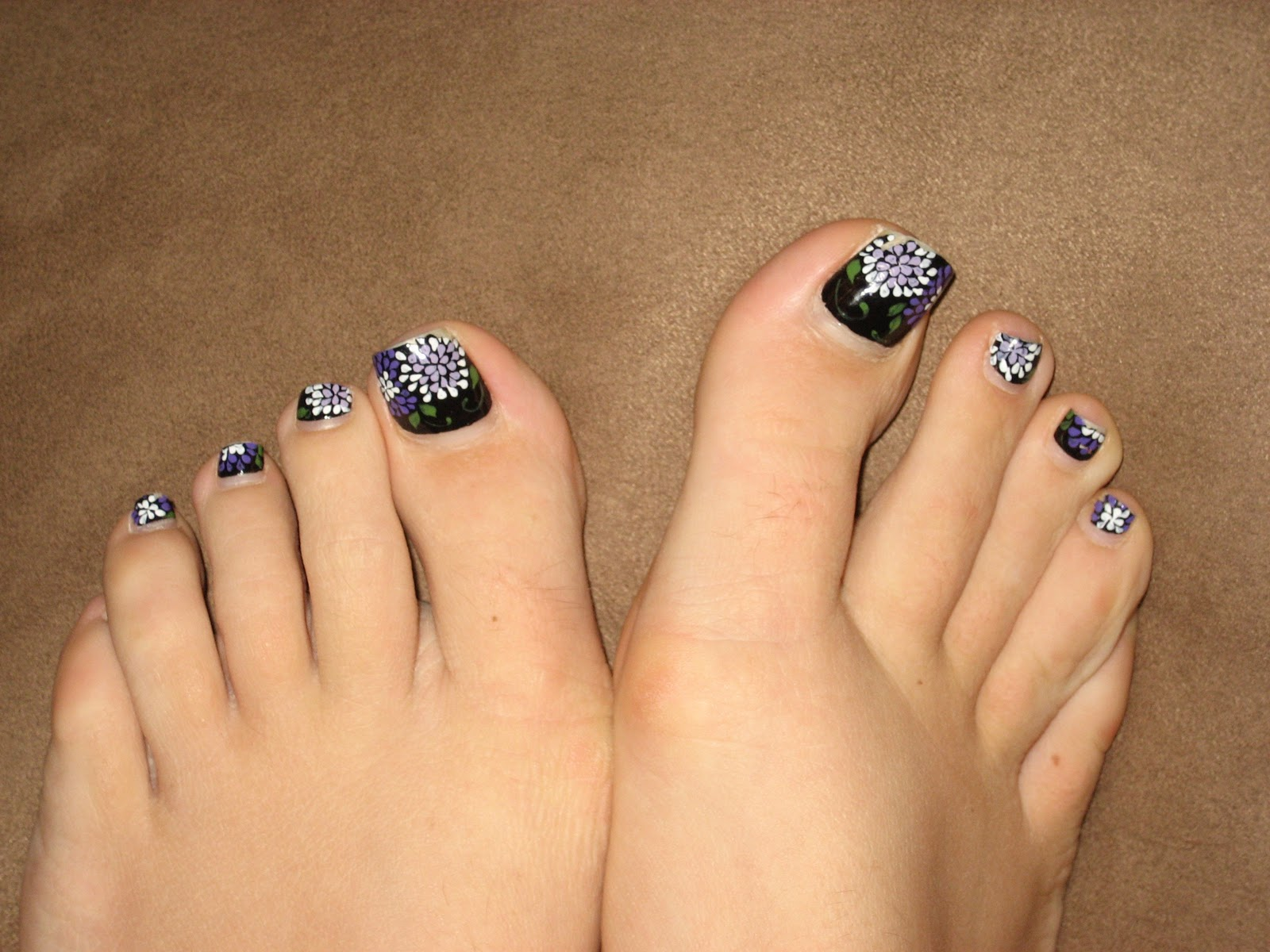 Toe Nail Designs with Palm Trees