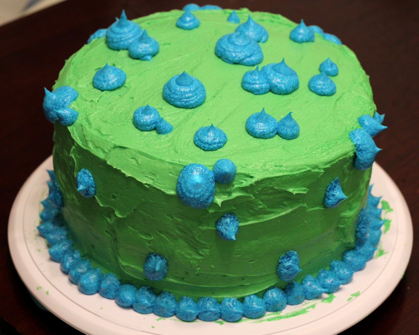 Blue and Green Birthday Cakes