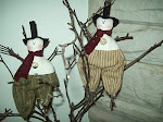 STICK SNOWMAN ORNAMENTS