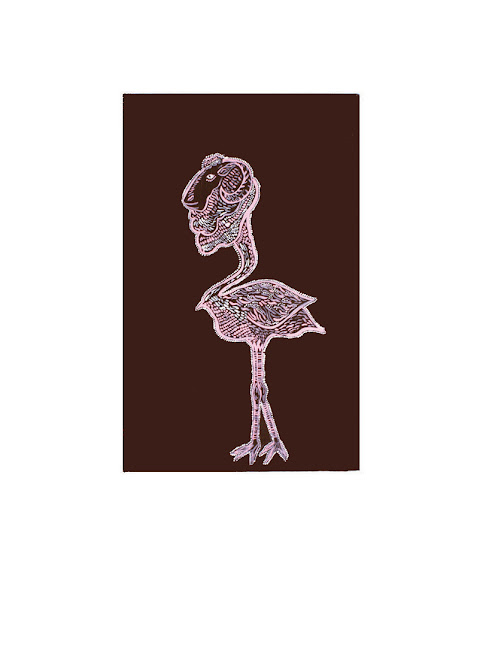 Serie: bestiario ,Técnica: mixta, 34x50 cm