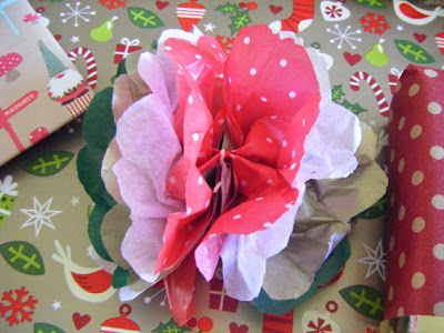 Christmas Paper Flowers