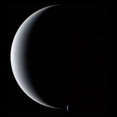 Crescent Neptune and Triton