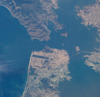 San Francisco as seen from the ISS