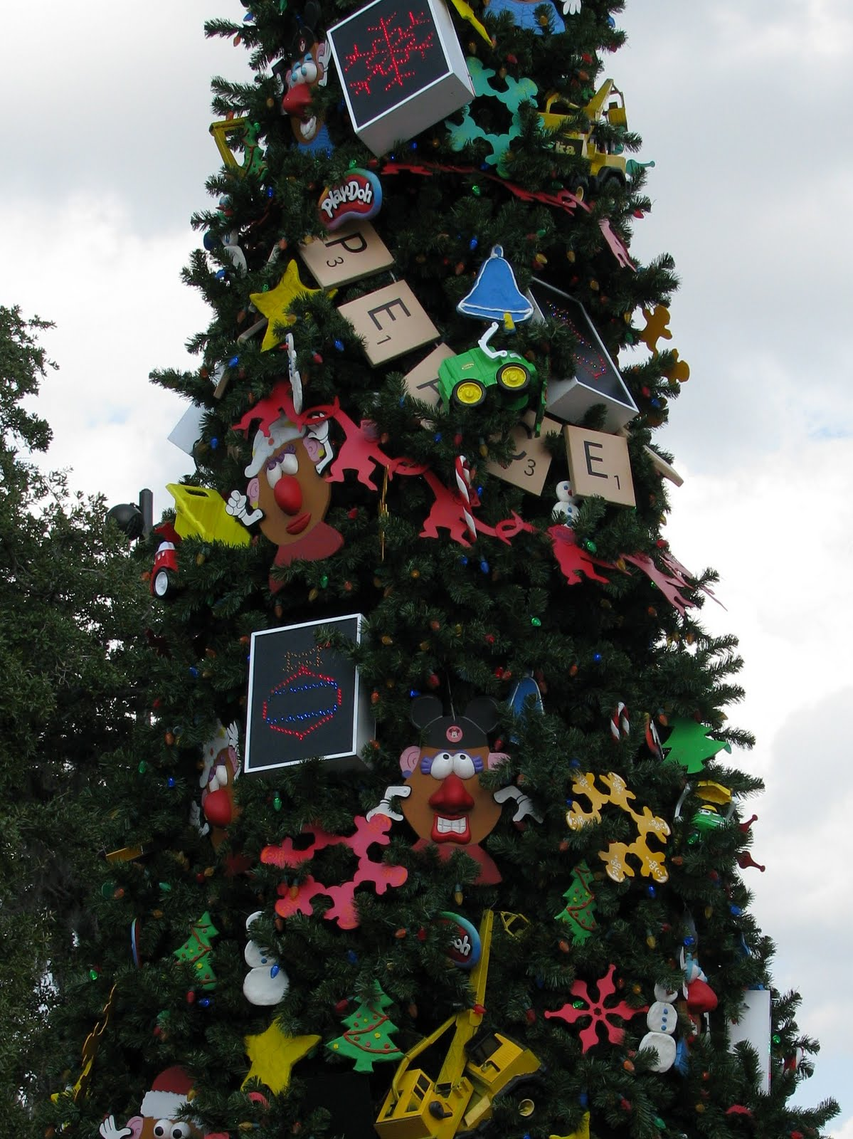 Disney world christmas trees show off unique decorations
