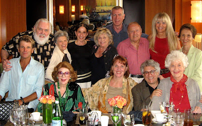 Nels Van Patten, Jim Brochu, Carol DeLouise, Bobbi Schlesinger, Patty Van Patten, Steve Schalchlin, Dick Van Patten, two friends of Bobbi's, Jayne Meadows, Marriette Hartley, Jerry Sroka, Charlotte Rae.