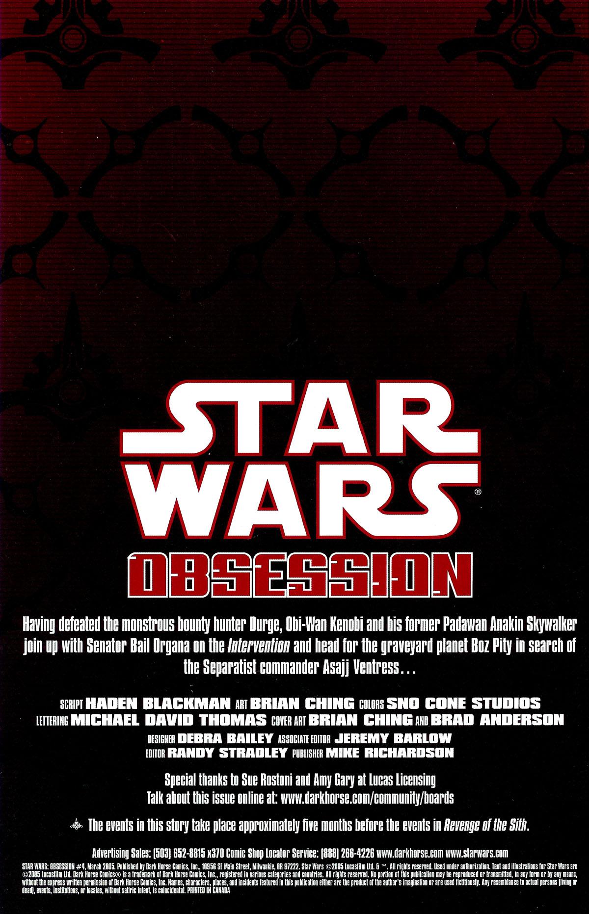Star Wars: Obsession #4 #4 - English 2