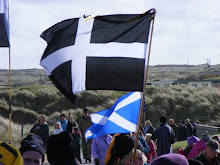 Saint Piran and his flag of black and white for Kernow