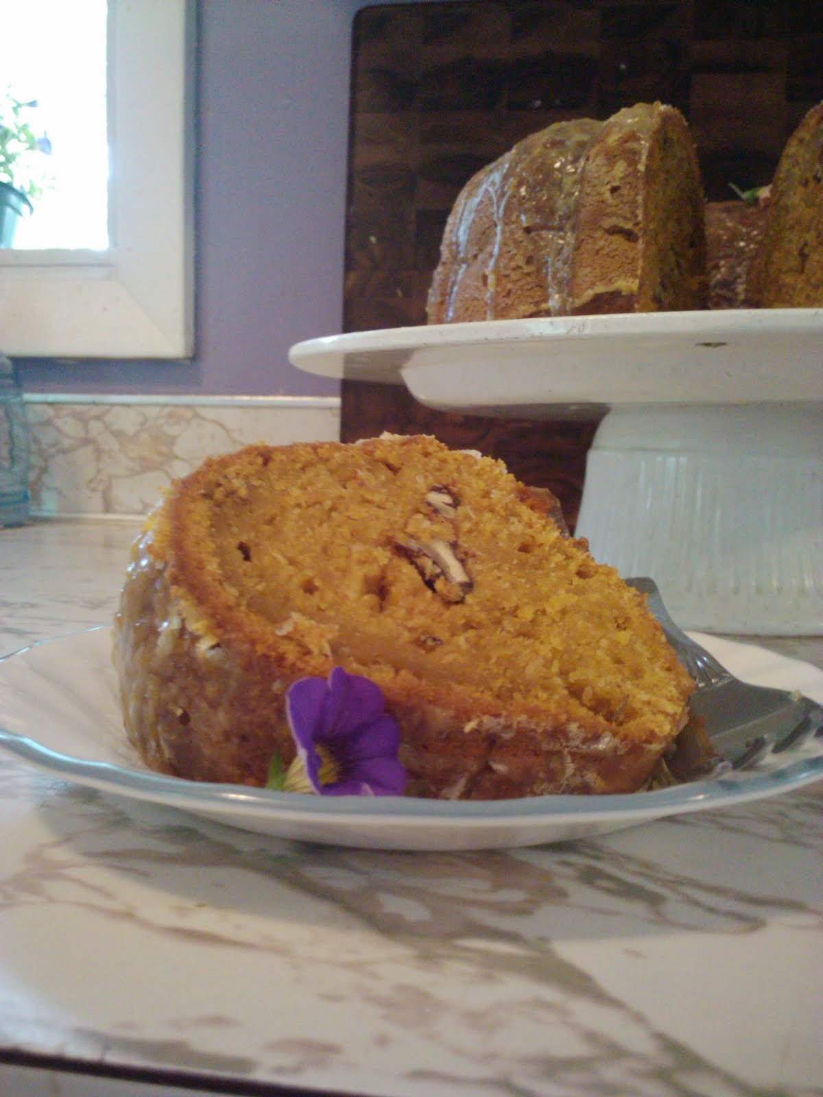 It Started With One.....: Sweet Potato Pound Cake with Citrus Glaze