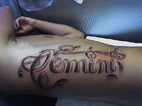 Words Hand Gemini Zodiac Tattoos