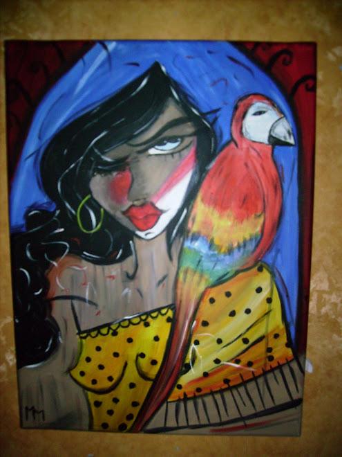 Rosa et son perroquet...la bonne aventure...