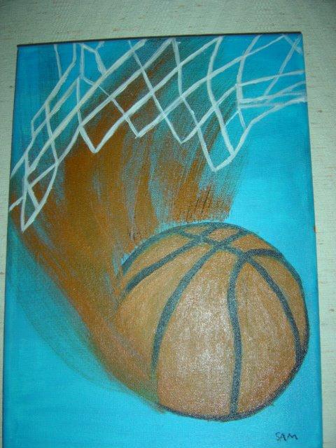 Ballon de Basket fait par la petite Sam
