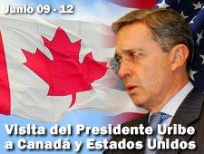 Visita del presidente Uribe a Canadá