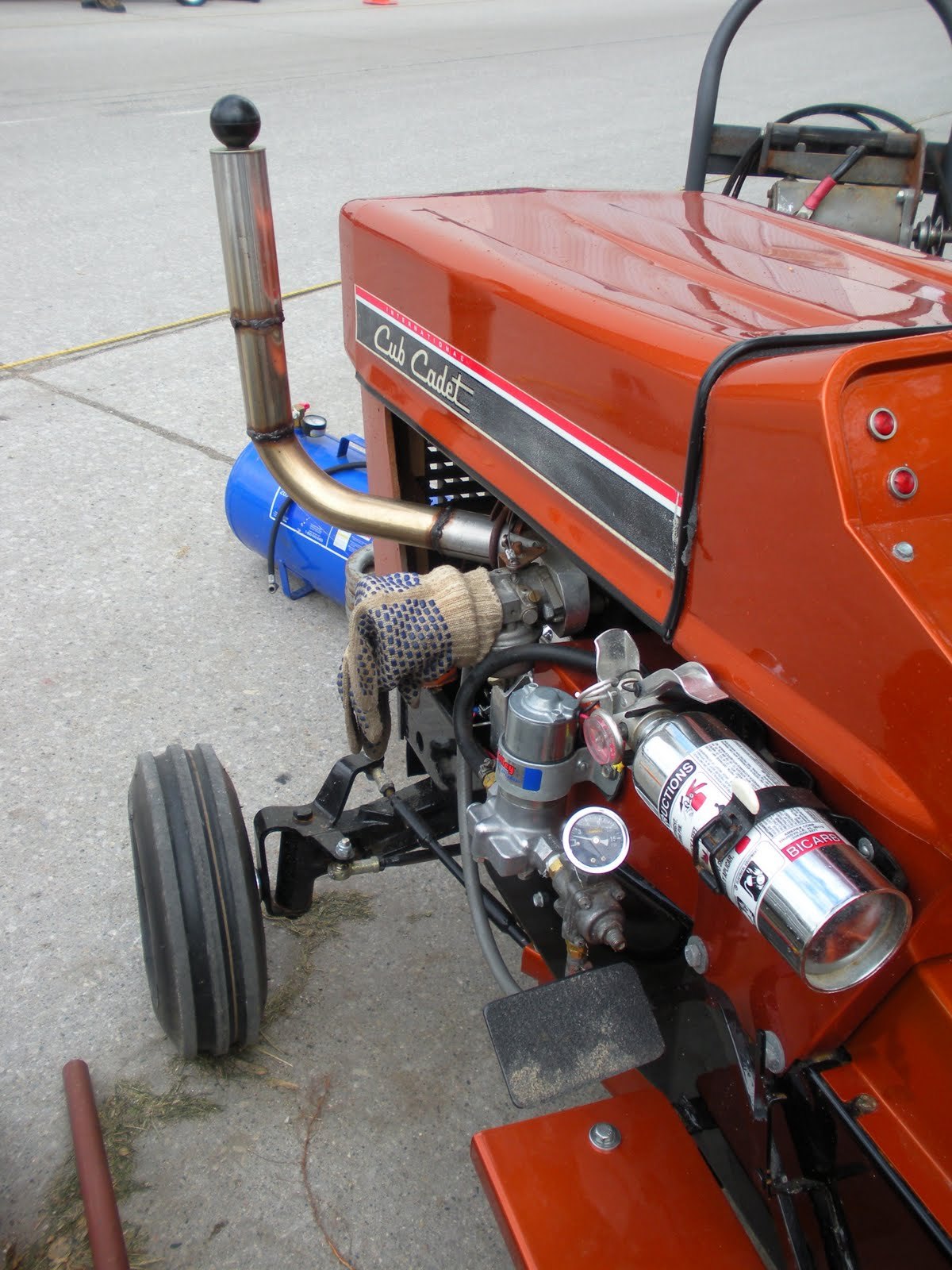 Small Homemade Tractors : The torrible zone velocity stacks and garden tractors
