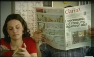 Kirchner PUBLICITANDO AMIGO CLARIN