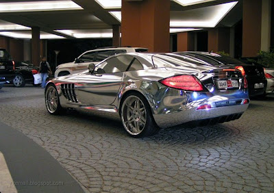 automobile: car made of pure silver audi a8 made in silver made