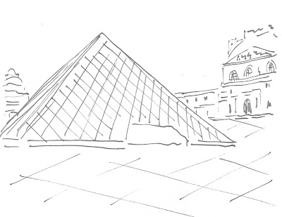 how to draw the 3 pyramid