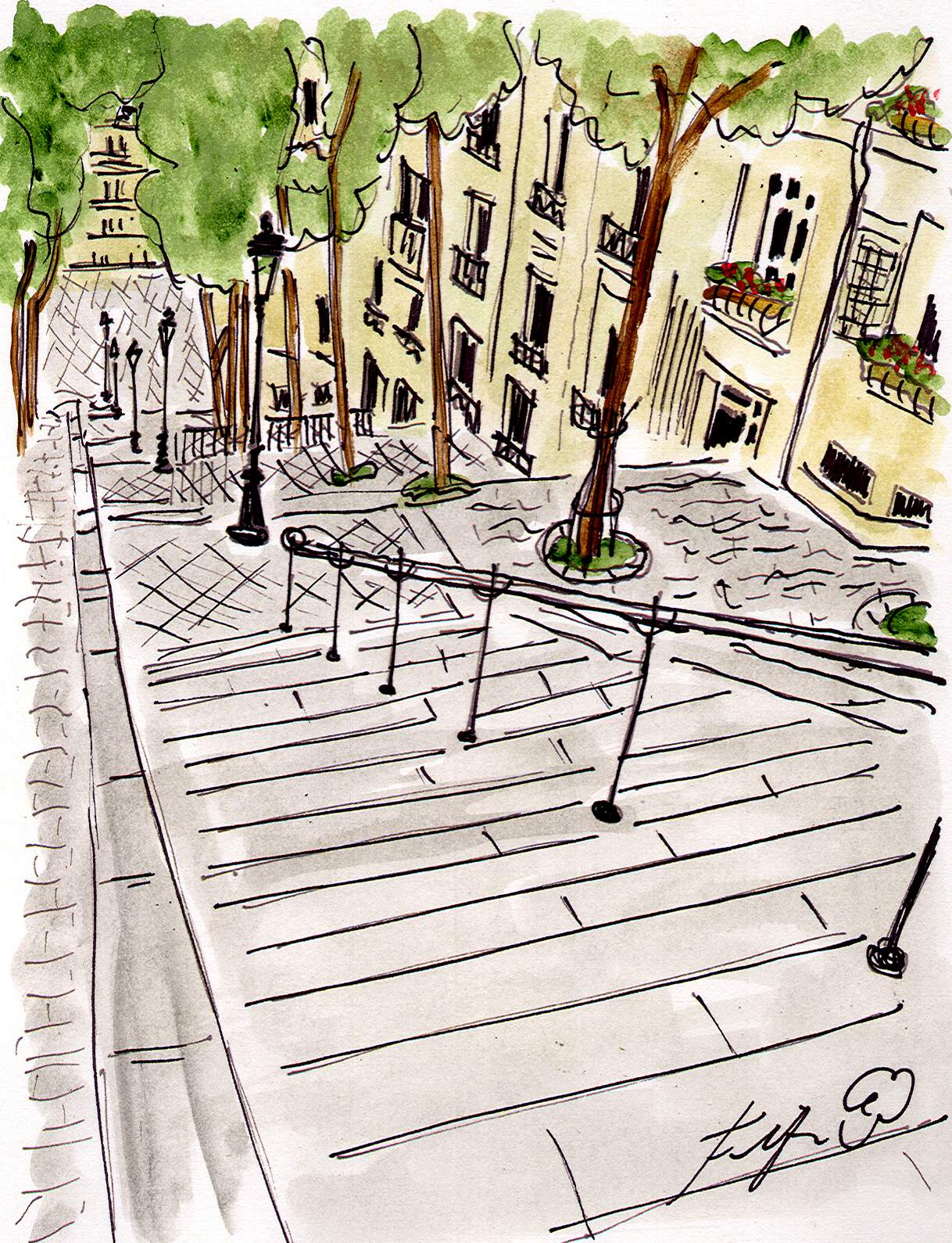 Fifi flowers m montmartre sights paintings and tablscapes for Restaurant miroir montmartre