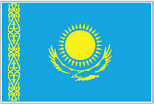 The Flag of Kazahkhstan