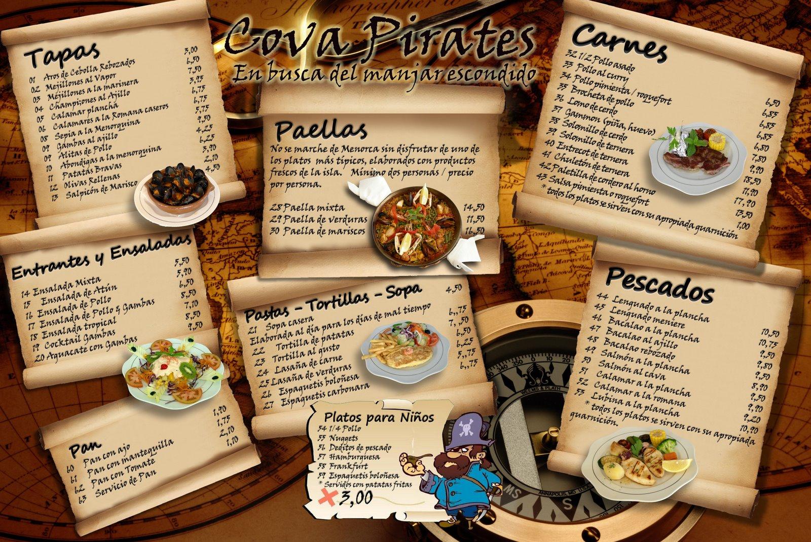 Dise o de cartas y menus francisortiz com for Disenos de menus para restaurantes