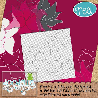 Doodle Flowers by Rachness Rachness_FreebieNo2preview