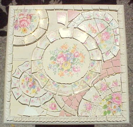 Broken china mosaic how to mosaic style pique assiette for Mosaic painting meaning