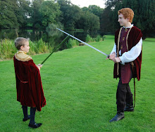Ben and Peter crossing swords