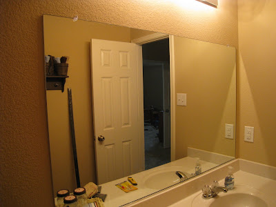 Shanty2chic bathroom mirror quick fix diy for Quick fix bathroom ideas