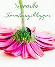 Vi är även medlemar i Svenska inredningsbloggar.